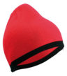 Beanie with Contrasting Border James & Nicholson - red black