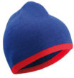 Beanie with Contrasting Border James & Nicholson - royal red