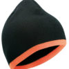 Beanie with Contrasting Border James & Nicholson - black orange