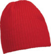 Rib Beanie James & Nicholson - red