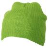 Rib Beanie James & Nicholson - limegreen