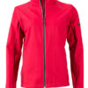 Ladies Zip Off Jacket James & Nicholson - red black