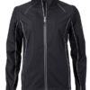 Ladies Zip Off Jacket James & Nicholson - black silver