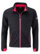 Men's Sports Softshell Jacket James & Nicholson - black lightred