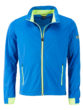 Men's Sports Softshell Jacket James & Nicholson - brightblue brightyellow