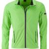 Men's Sports Softshell Jacket James & Nicholson - brightgreen black