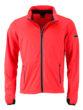 Men's Sports Softshell Jacket James & Nicholson - brightorange black