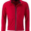 Men's Sports Softshell Jacket James & Nicholson - lightred black