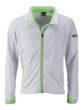 Men's Sports Softshell Jacket James & Nicholson - white brightgreen