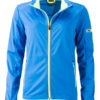 Ladies' Sports Softshell Jacket James & Nicholson - brightblue brightyellow