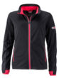 Ladies' Sports Softshell Jacket James & Nicholson - black lightred