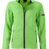 Ladies' Sports Softshell Jacket James & Nicholson - brightgreen black