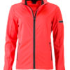 Ladies' Sports Softshell Jacket James & Nicholson - brightorange black