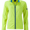 Ladies' Sports Softshell Jacket James & Nicholson - brightyellow brightblue