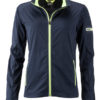 Ladies' Sports Softshell Jacket James & Nicholson - navy brightyellow