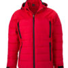 Mens Outdoor Hybrid Jacket James & Nicholson - red