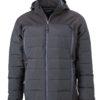 Mens Outdoor Hybrid Jacket James & Nicholson - black