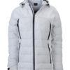 Ladies Outdoor Hybrid Jacket James & Nicholson - white