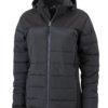 Ladies Outdoor Hybrid Jacket James & Nicholson - black