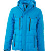 Mens Wintersport Jacket James & Nicholson - aqua black