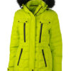 Ladies Wintersport Jacket James & Nicholson - acid yellow black