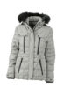 Ladies Wintersport Jacket James & Nicholson - silver black