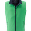 Mens Promo Softshell Vest James & Nicholson - green navy