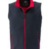 Mens Promo Softshell Vest James & Nicholson - iron grey red