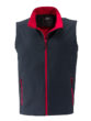 Mens Promo Softshell Vest James & Nicholson - iron grey red