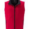 Mens Promo Softshell Vest James & Nicholson - red black