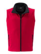 Mens Promo Softshell Vest James & Nicholson - red black