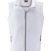 Mens Promo Softshell Vest James & Nicholson - white white
