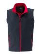 Ladies Promo Softshell Vest  James & Nicholson - iron grey red