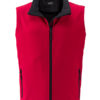 Ladies Promo Softshell Vest  James & Nicholson - red black