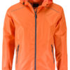 Mens Rain Jacket James & Nicholson - orange carbon