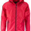 Mens Rain Jacket James & Nicholson - red black
