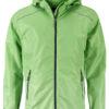 Mens Rain Jacket James & Nicholson - spring green navy