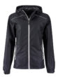 Ladies Rain Jacket James & Nicholson - black silver