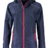 Ladies Rain Jacket James & Nicholson - navy red