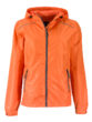 Ladies Rain Jacket James & Nicholson - orange carbon