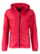 Ladies Rain Jacket James & Nicholson - red black