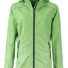 Ladies Rain Jacket James & Nicholson - spring green navy