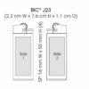 BIC J23 Feuerzeug - Standbogen