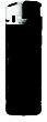 BIC J38 Elektronic Feuerzeug Chrom - schwarz