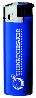 BIC J38 Elektronic Feuerzeug Chrom - dunkelblau