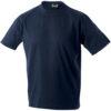 T-Shirt Werbung auf Round-T Heavy - petrol
