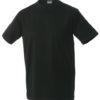 T Shirt Werbung auf Round T Heavy - black