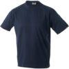 T Shirt Werbung auf Round T Heavy - navy