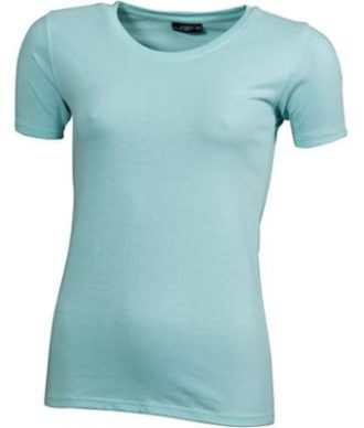 Ladies Basic T Shirt Damenshirt - mint