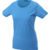 Ladies Basic T Shirt Damenshirt - aqua